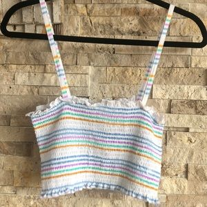 NWT Pac Sun Me to We striped straps tube top